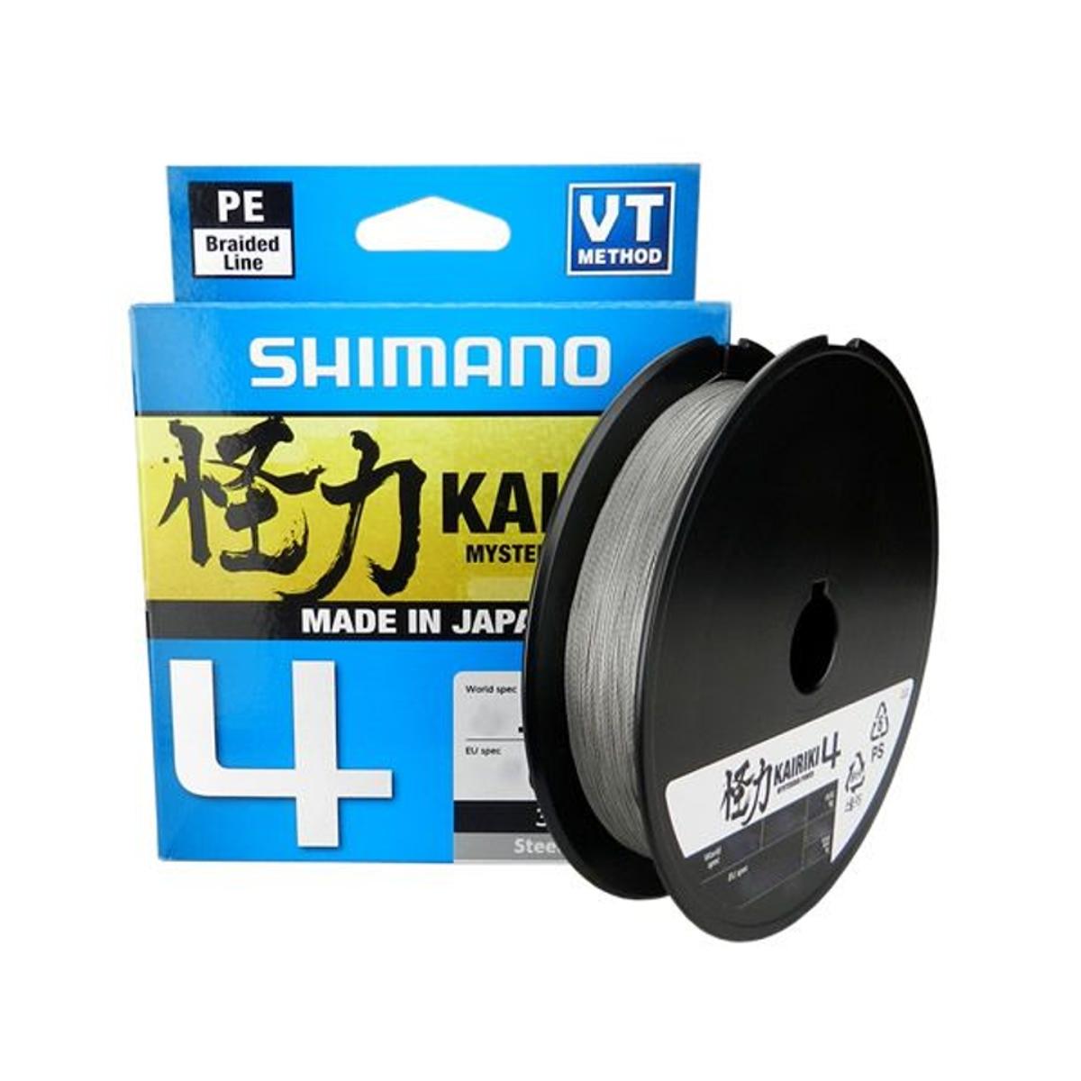 Linha Multifilamento Shimano Kairiki 4 - 40lb 0.28mm 300m Cinza