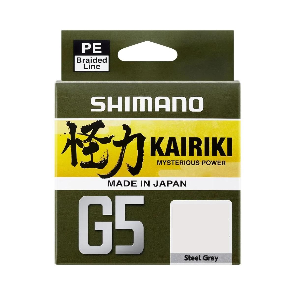 Linha Multifilamento Shimano Kairiki G5 15,1lbs 0.17mm 150m Cinza (Steel Gray)  - Pesca Adventure