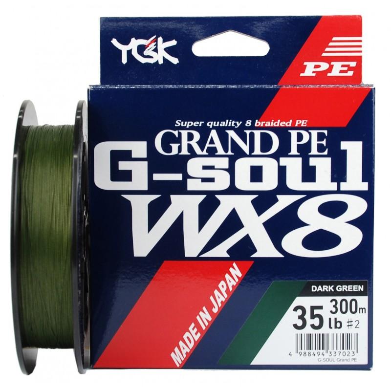 Linha Multifilamento YGK G-Soul Grand PE WX8 300m 35lb
