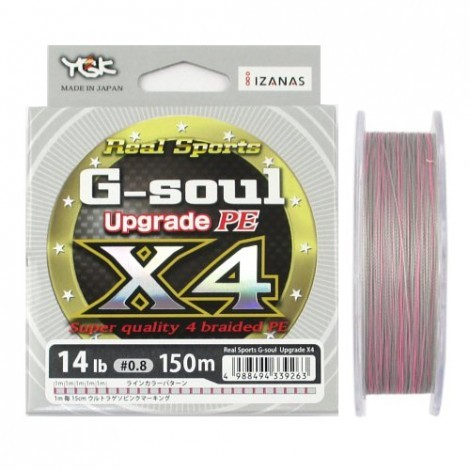 Linha Multifilamento YGK G-Soul Upgrade PE X4 0.13mm 12lb 200m