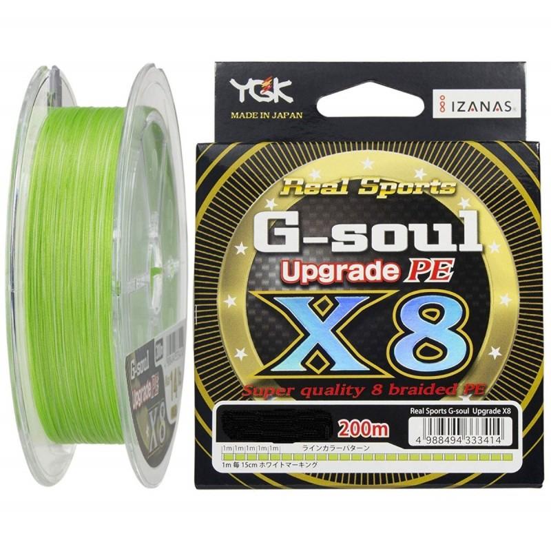 Linha Multifilamento YGK G-Soul Upgrade PE X8 0.21mm 30lb 200m  - Pesca Adventure