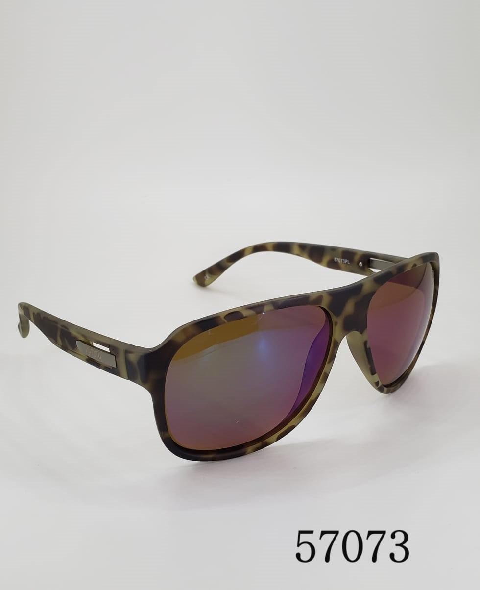 Óculos de Sol Polarizado Matuto Modelos 57073 Marrom Pintadinho