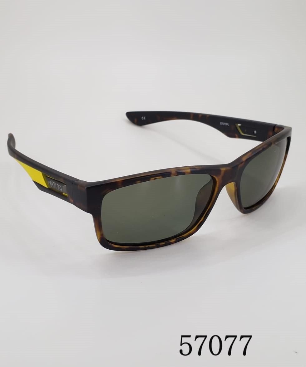 Óculos de Sol Polarizado Matuto Modelos 57077 Marrom c/ Amarelo  - Pesca Adventure