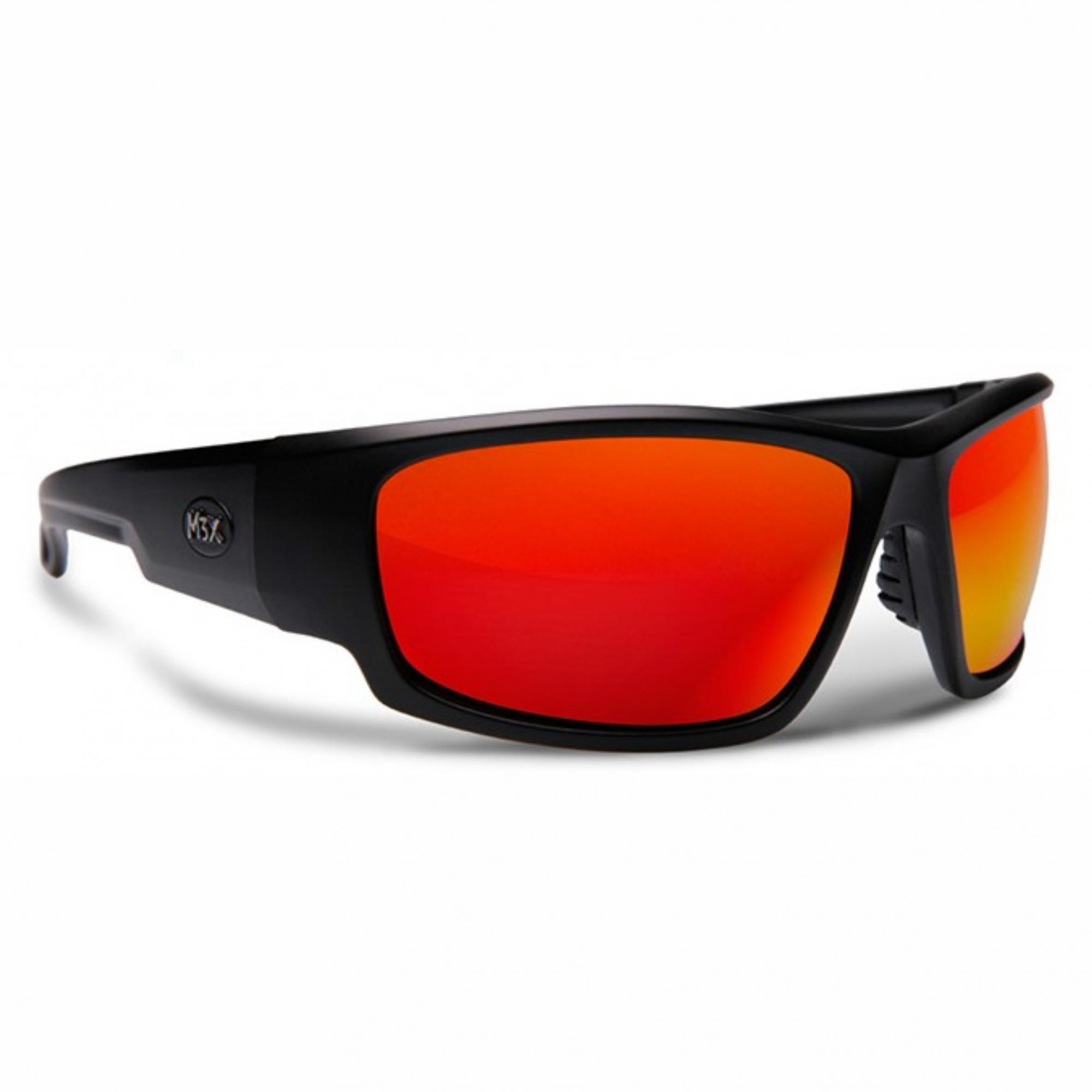 Óculos de Sol Polarizado Monster 3x Black Monster Vermelho
