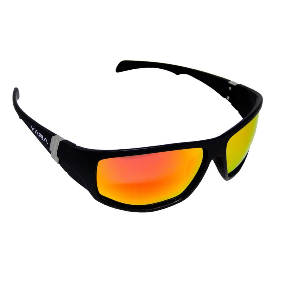 Óculos de Sol Polarizado Yara Dark Vision 01852 Sport - Lente Vermelho Espelhado