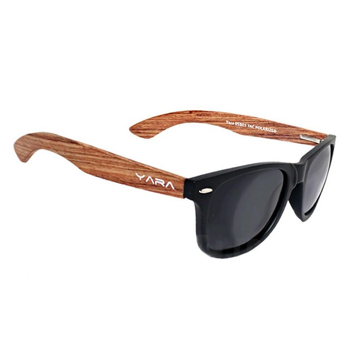 Óculos de Sol Polarizado Yara Dark Vision 09821 Wood - Lente Smoke