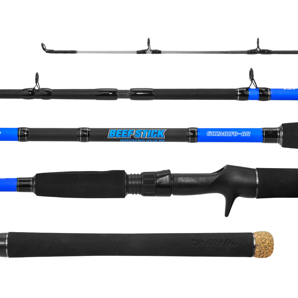Vara Daiwa Beef Stick 601 1,83m 12-25lb Inteiriça Para Carretilha  - Pesca Adventure