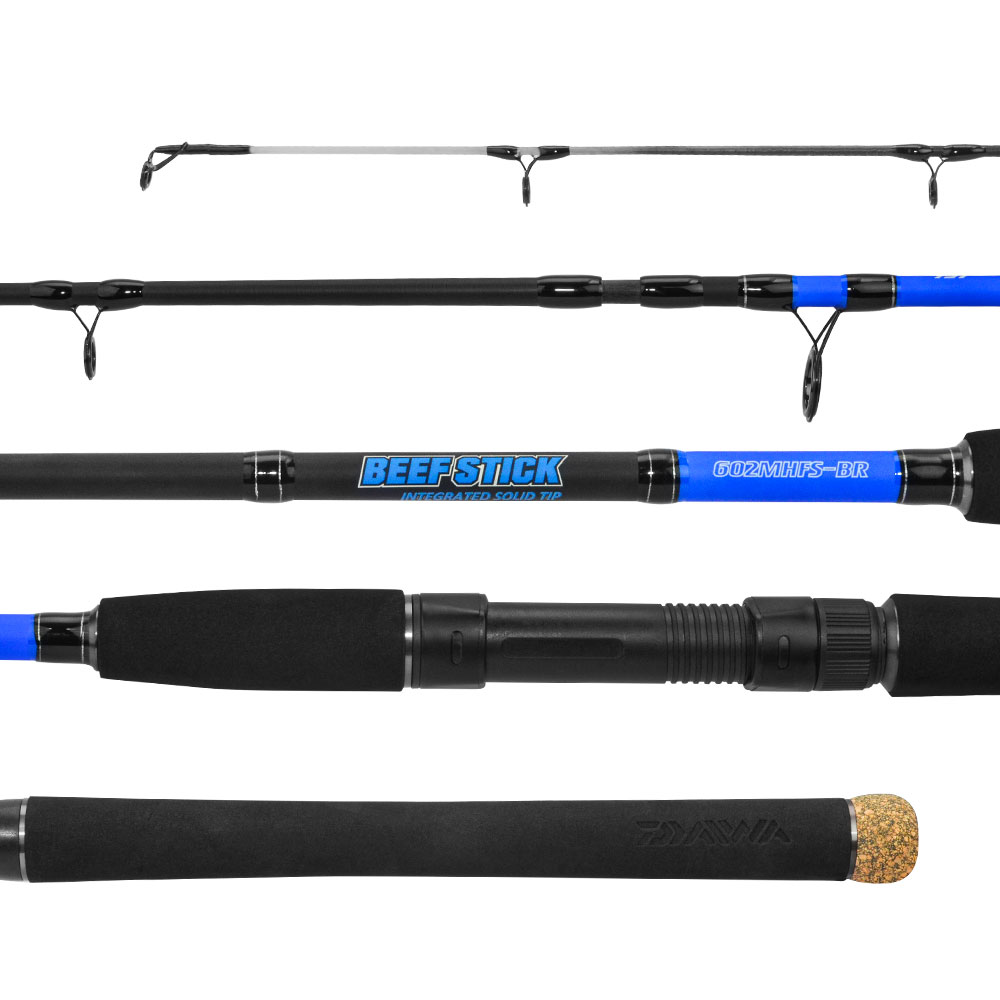 Vara Daiwa Beef Stick 602 1,83m 20-40lb Molinete Duas Partes