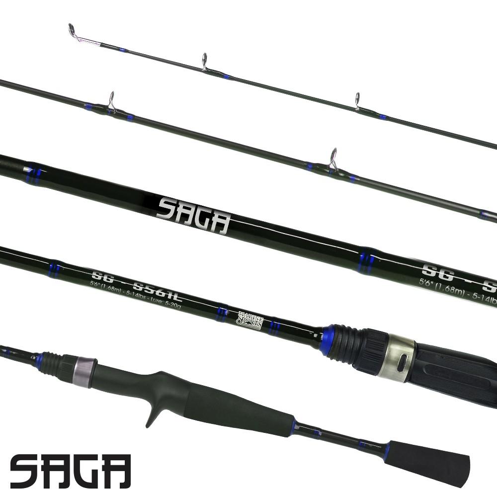 Vara De Pesca Marine Saga 561ML (1,68m) 8-17lb Para Carretilha  - Pesca Adventure