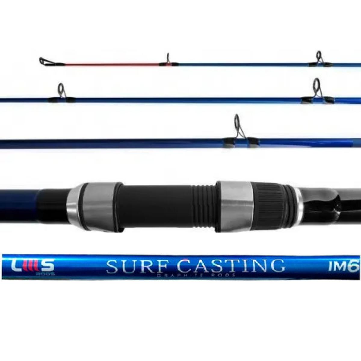 Vara Lumis Surf Casting 4203 (4,20m) 20-50lb 3 Partes Molinete  - Pesca Adventure