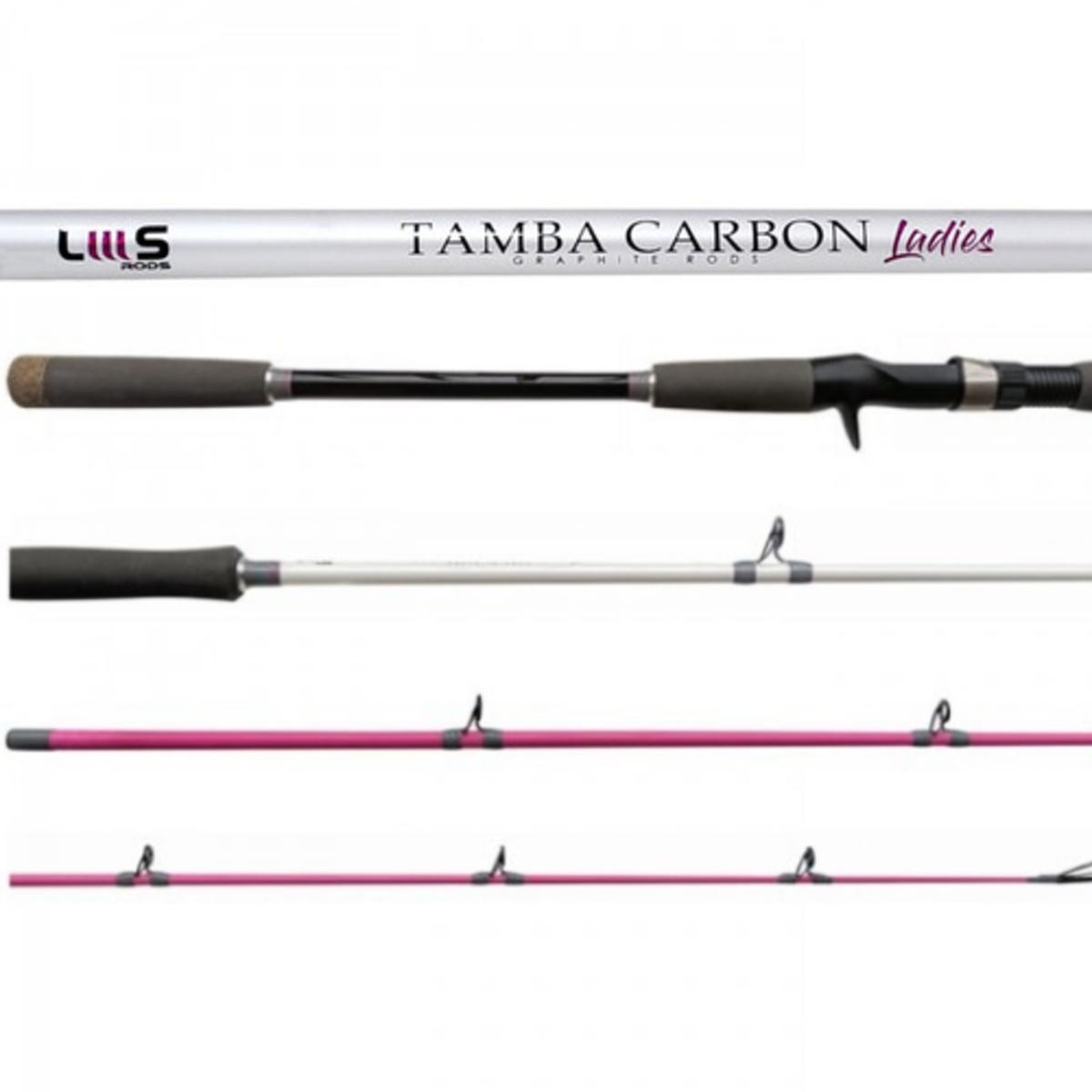 Vara Lumis Tamba Carbon Rosa 8'0 (2,40m) 20-50lb Carretilha 2 Partes