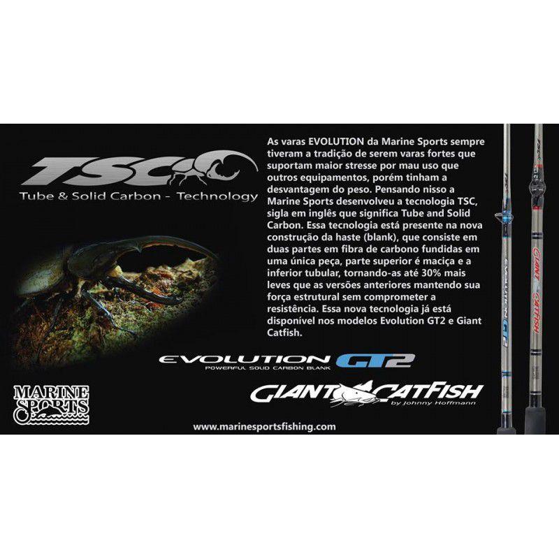 Vara Marine  Giant Catfish 661XH (1,98m) 60-120lb Para Carretilha  - Pesca Adventure