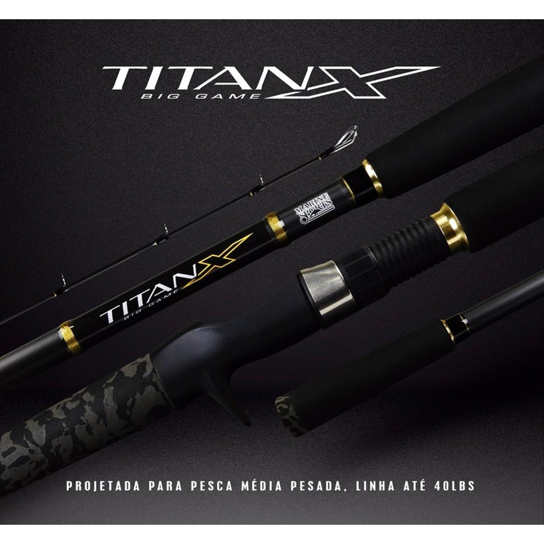 Vara Marine Titan X BG 802 (2.44m) 20-40lb para Carretilha 2 Partes  - Pesca Adventure