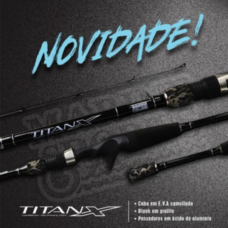 Vara Marine Titan X TTX 602 MH (1,83m) 12-25lb Para Carretilha Duas Partes  - Pesca Adventure