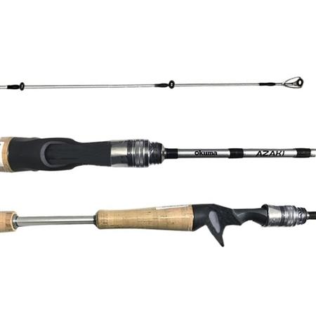 Vara Okuma Azaki 601 (1,83m) 12-25lb Para Carretilha Inteiriça  - Pesca Adventure