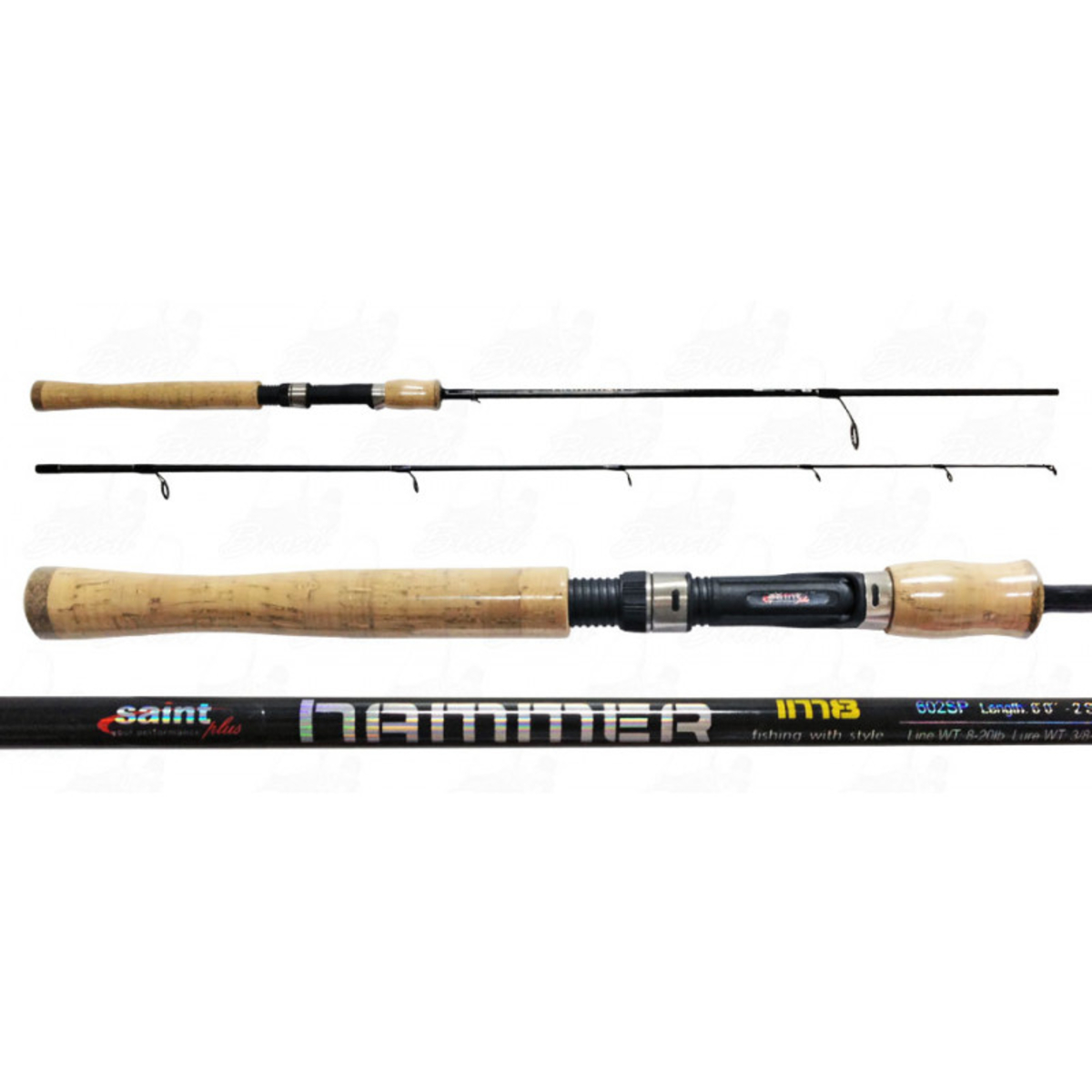 Vara Saint Hammer 702sp (2,13m) 20-40lb 2 Partes Molinete  - Pesca Adventure