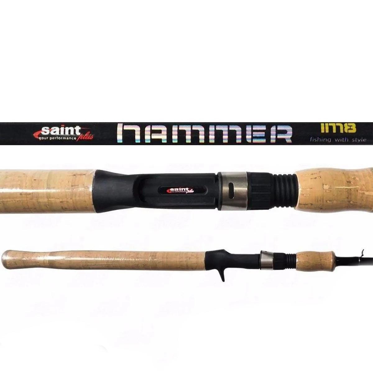 Vara Saint Hammer 702bc (2,13m) 15-30lb 2 Partes Carretilha  - Pesca Adventure