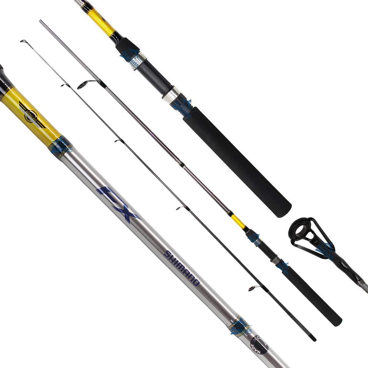 Vara Shimano Fx 802 (2,43m) 12-25lb Molinete 2 Partes  - Pesca Adventure
