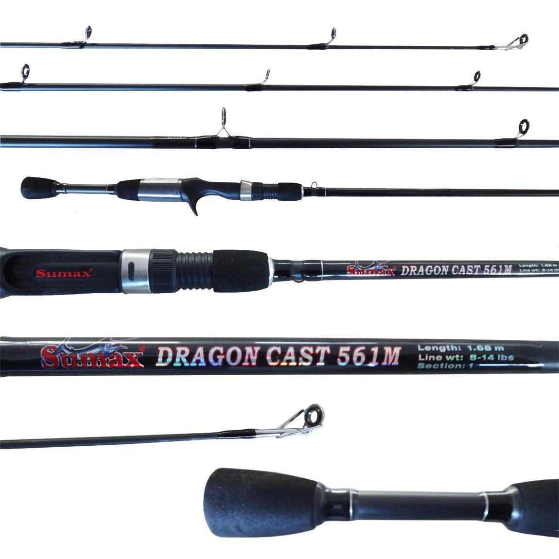 Vara Sumax Dragon Cast 561m (1,68m) 14lb Carretilha Inteiriça  - Pesca Adventure