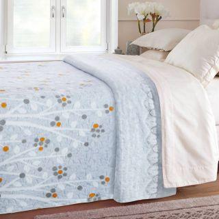 Cobertor Casal Jolitex Devorê Azul