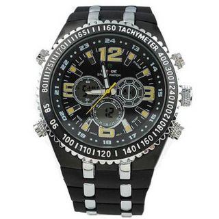 ce94e4b9c43 Relógio Masculino Anadigi Casual Weide WH-1107 Preto e Amarelo (2153)