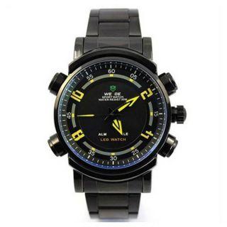 cece3c5cd9d Relógio Masculino Anadigi Weide Esporte WH-1101 Preto e Amarelo