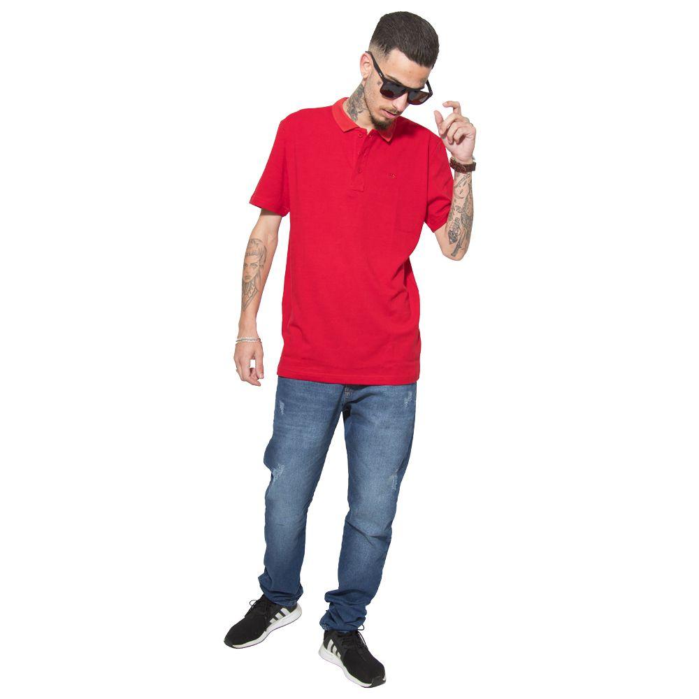 Camisa Polo Fall Back Vermelha