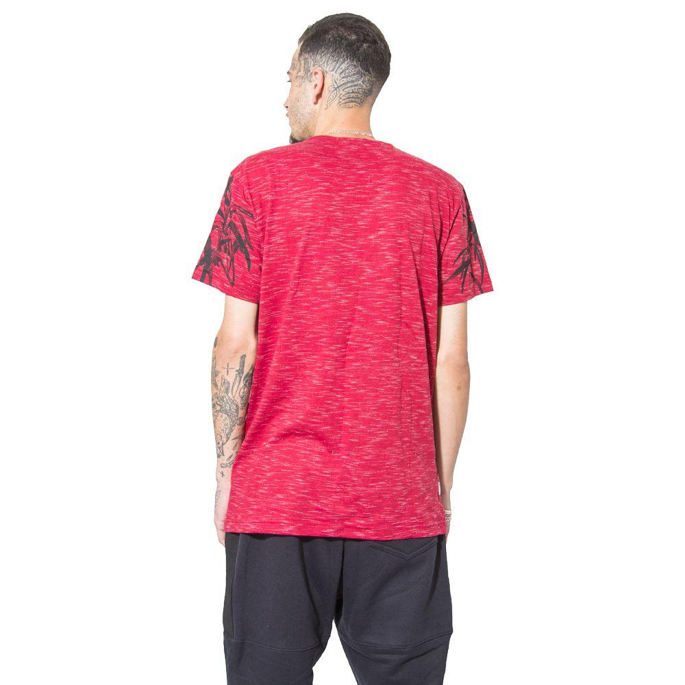 Camiseta Gangster Estampada Vermelha