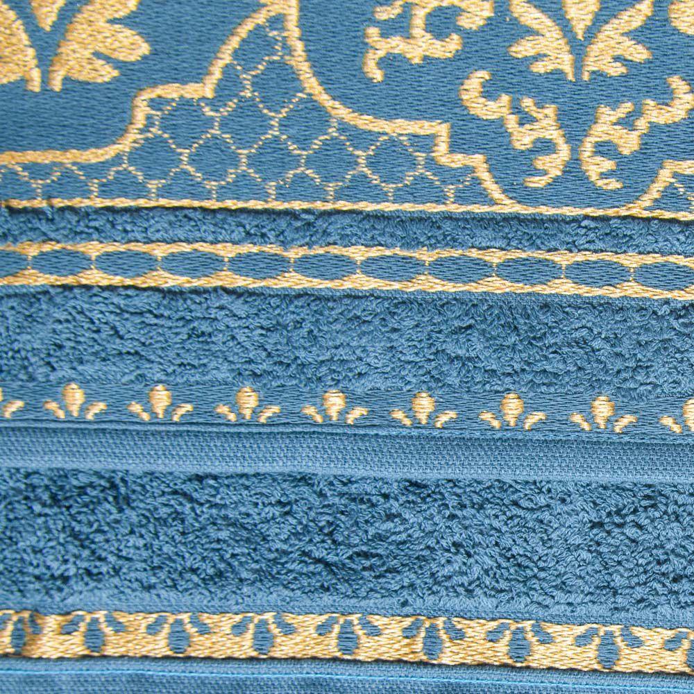 Jogo de Toalhas 05 Peças Imperial Arabesque Atlântica Azul