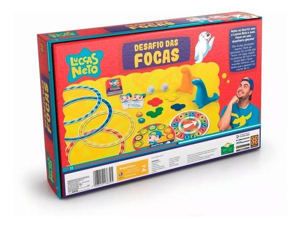 Jogo desafio das Focas - Luccas Neto