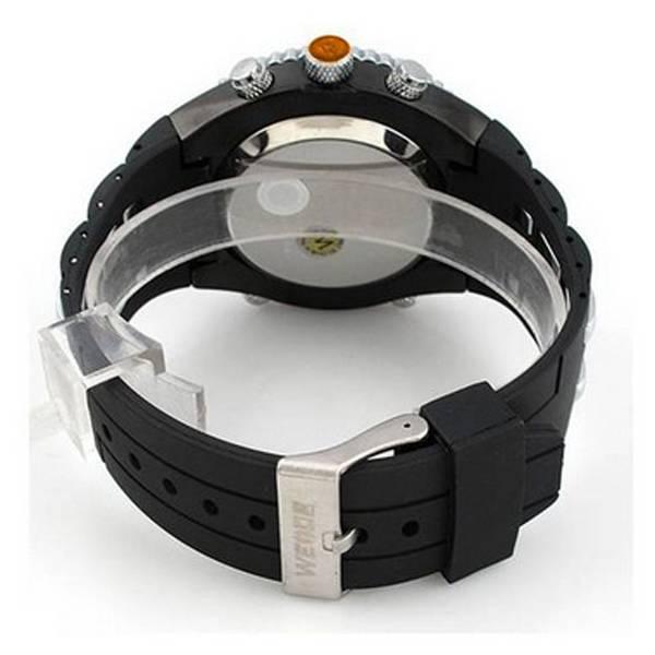 Relógio Masculino Anadigi Casual Weide WH-1107 Preto e Amarelo (2153)