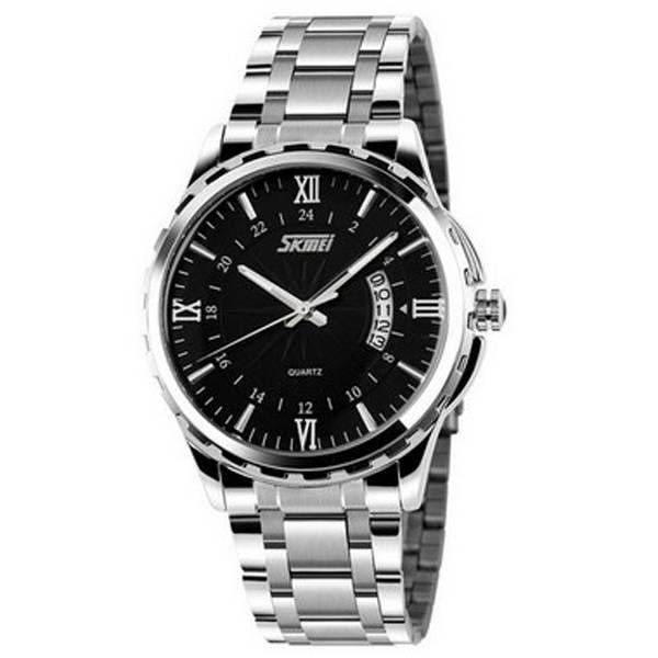 b59935b514d Relógio Masculino Skmei Analógico 9069 Prata e Preto (5028) - Lojas Miriam