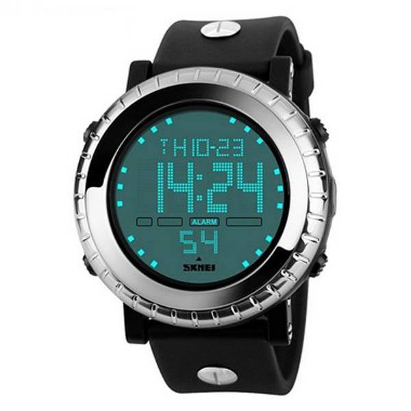 591f38dd861 Relógio Masculino Skmei Digital 1172 - Preto Prata (5079) - Lojas Miriam
