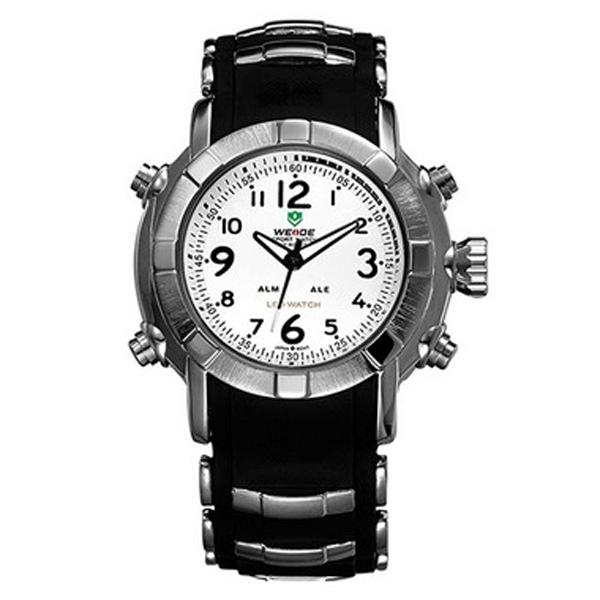 Relógio Masculino Weide Anadigi WH-1106 Preto e Branco (2680)