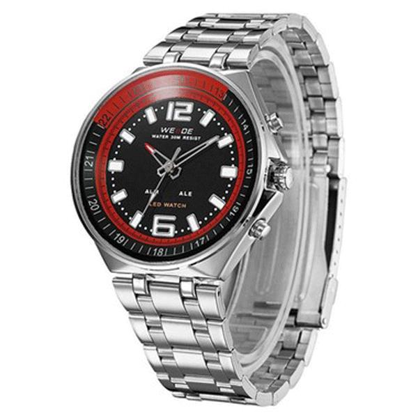 5af4af7d0c5 Relógio Masculino Weide Anadigi WH-849 Preto (2683) - Lojas Miriam
