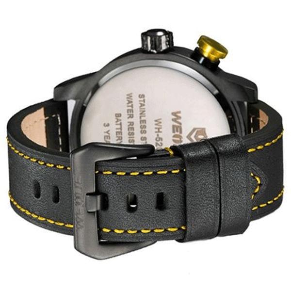 52f4147adaa Relógio Masculino Weide Analógico WH-5201 Preto e Amarelo (A2224) - Lojas  Miriam