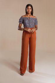 f60e43330d blusa blusa alca com babado em v - Blusa - De R 118