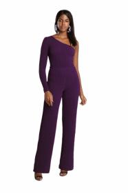 Calça Pantalona Lurex Púrpura