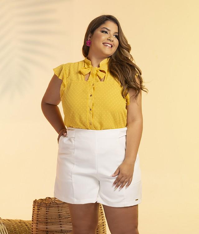 Blusa Amarela Laço
