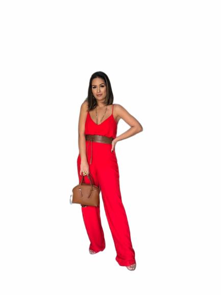 Conjunto Calça e Blusa de Alça Vermelho