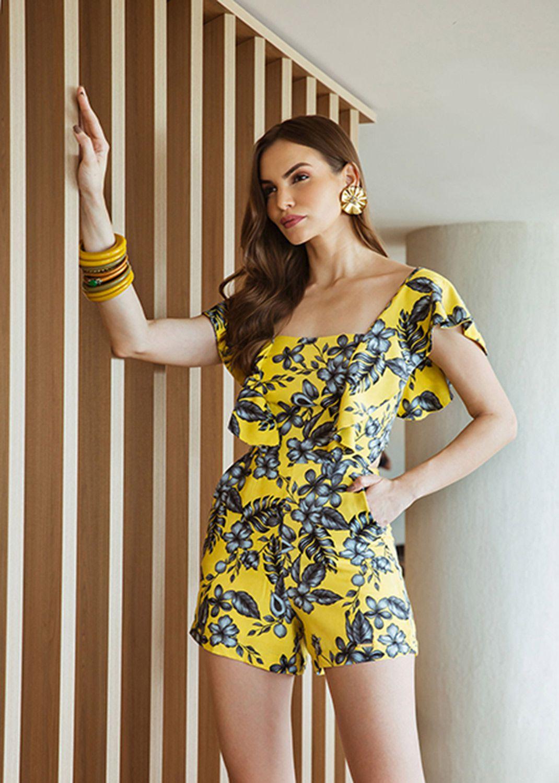 773022033 Macacão curto estampado - VANKOKE - Moda Feminina - Vestidos