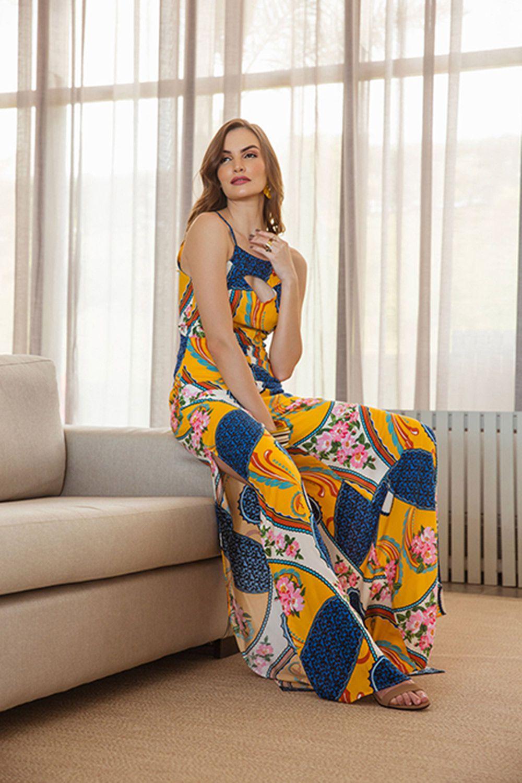 8214032d8 Macacão longo estampado floral - VANKOKE - Moda Feminina - Vestidos ...