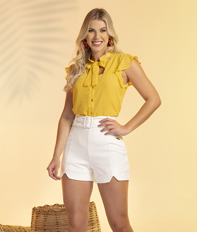 Short Plus Size Com Cinto Off