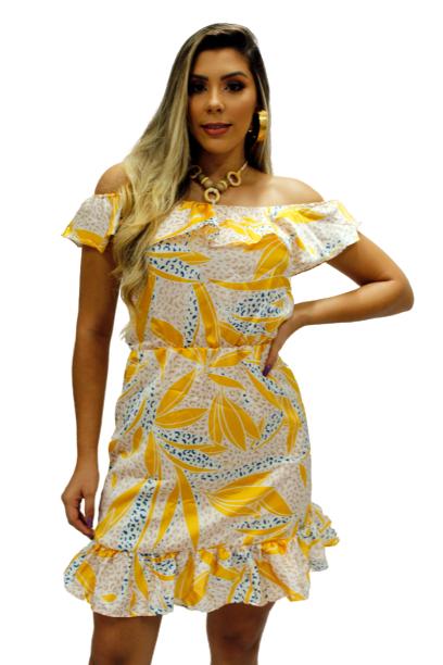 Vestido Ciganinha com Colar