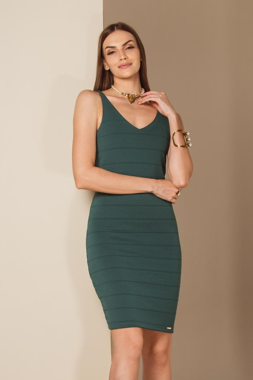 cc74e1f6c Vestido Curto Verde Bandagem - VANKOKE - Moda Feminina - Vestidos ...