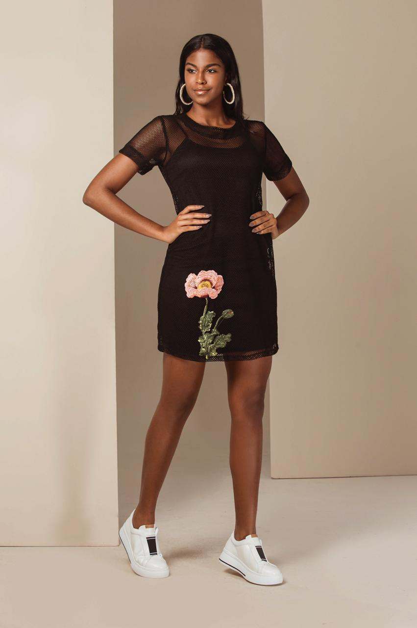 2d4cdd7d3c Vestido Curto de Tela - VANKOKE - Moda Feminina - Vestidos