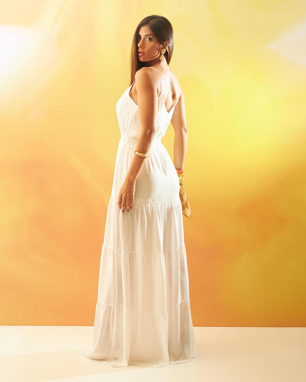 Vestido Longo de Alça Branco