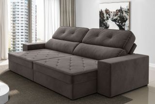 Strange Sofa Retratil E Reclinavel Conforto Evergreenethics Interior Chair Design Evergreenethicsorg