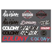 Cartela de Adesivos Colony e Division