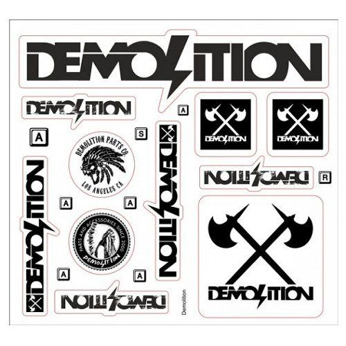 Cartela de Adesivos Demolition